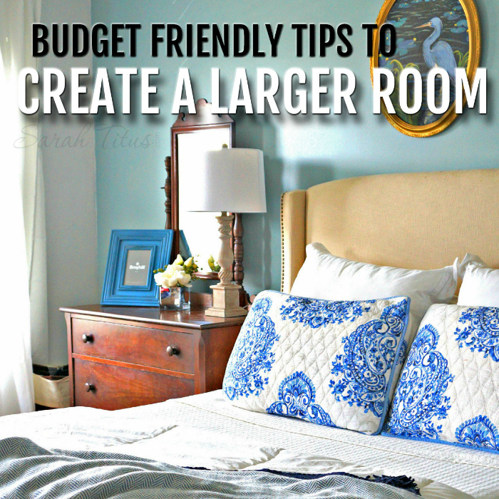I love getting free furniture and creating a gorgeous and dramatic room. It's simple and you can do it too! Check out these budget friendly tips to create a larger room.