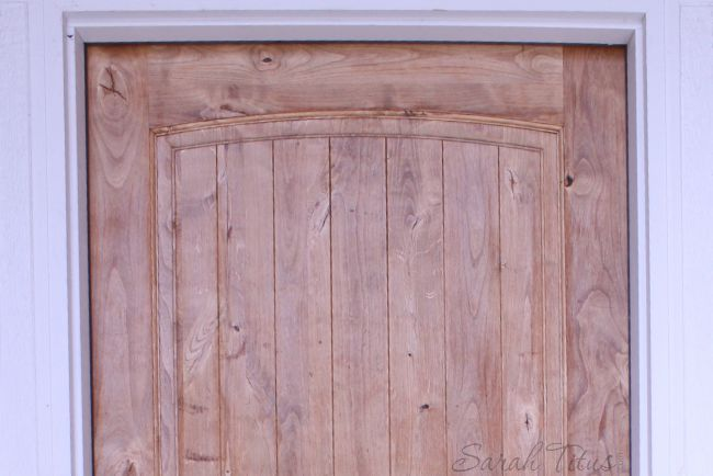 Putting in a quality wooden door as a home improvement