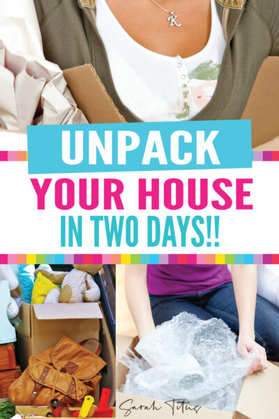In 14 years, I've moved over 30 times. You could say I'm an expert packing mover by now and over the years, I've learned how to unpack a house in two days! It's not hard if you follow these simple tips. #moving #hacks #packing