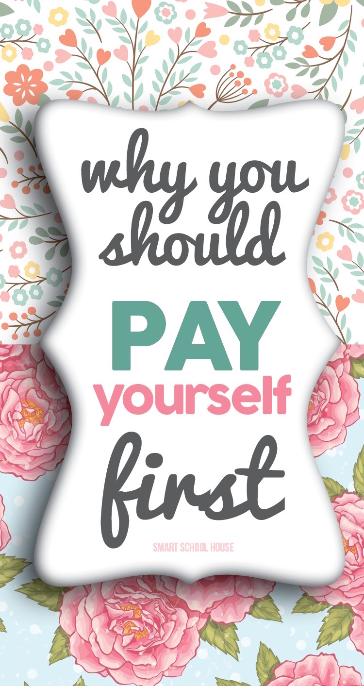 Paying yourself first is SO important and a great way to start growing your savings account!