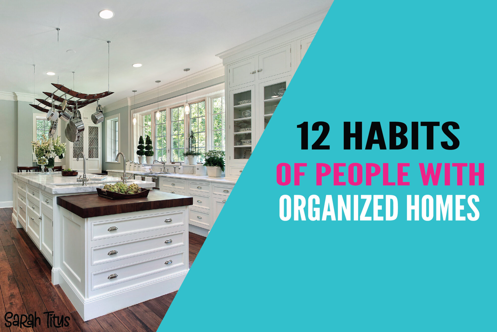 Keeping your home organized is easy when you implement these 12 habits into your lifestyle! These 12 habits will help you keep your home clean and organized daily! #organizinghacks #organizinghabits #organizingideas #cleanhome #organizedhome #organizing