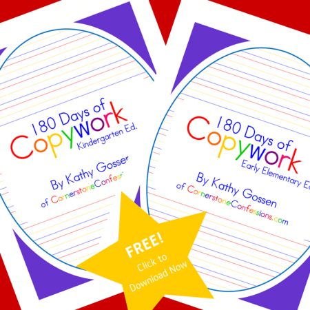 Copywork can help your child's handwriting and vocabulary. Check out these copywork printables for grades K-2.