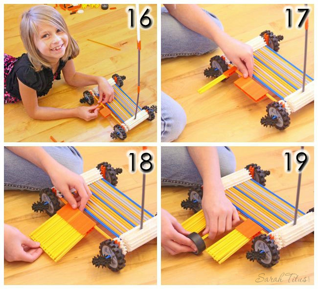 Attaching the platform to the knex scooter