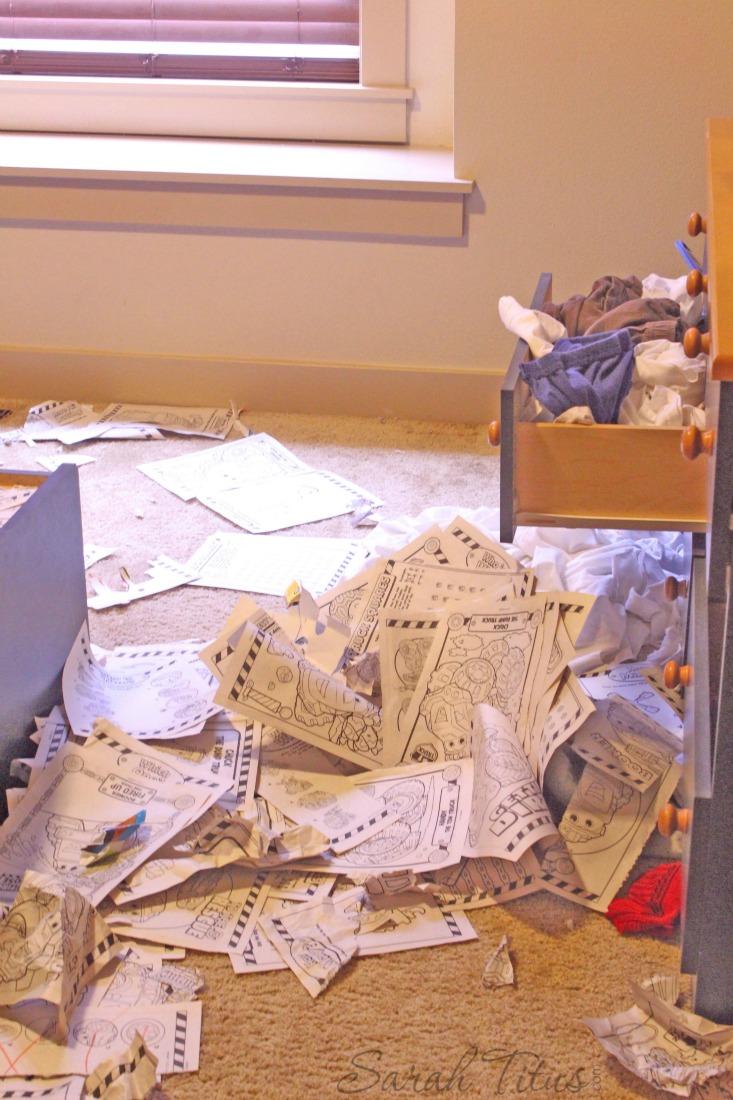 Matt messy room