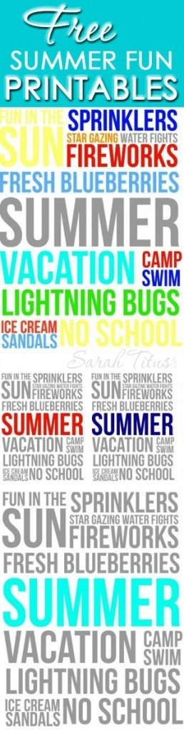 There are so many awesome things about summer. Enjoy them with these Summer Fun Free Printables!