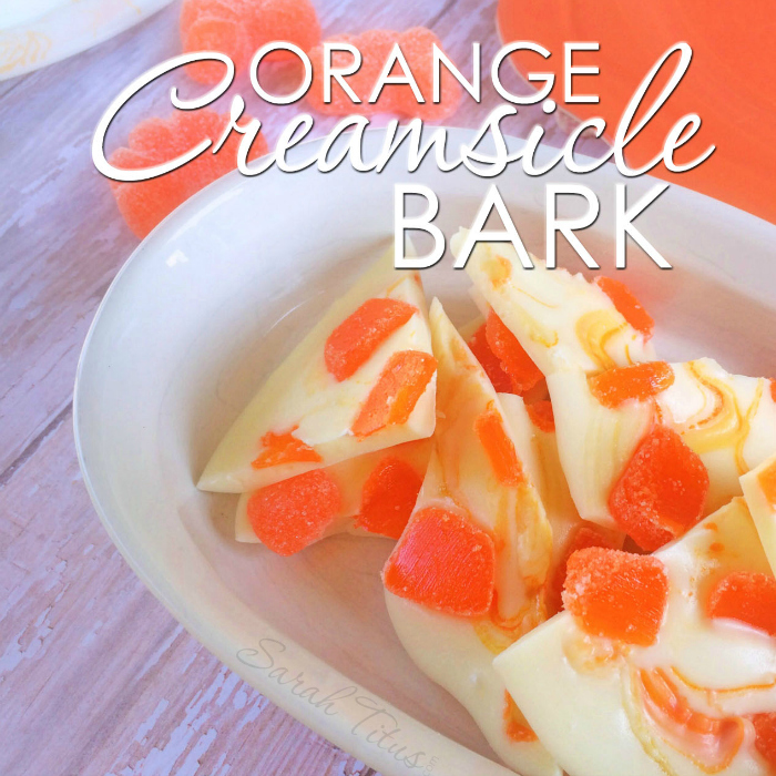 This orange creamsicle bark is beyond delicious and couldn't be any easier to make! Takes me right back to my childhood!