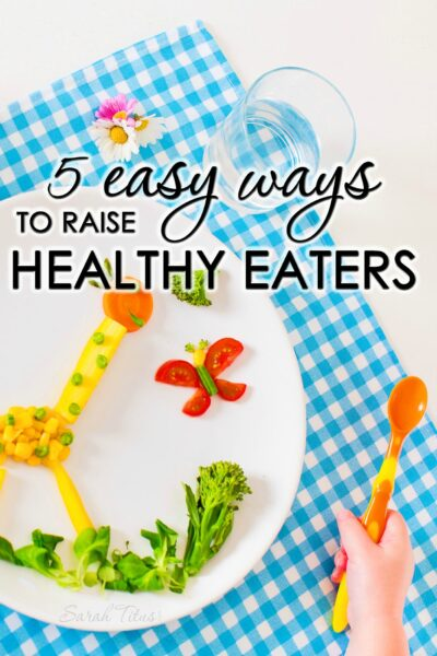 Have you ever wondered why some kids have no trouble eating veggies and some will only eat hot dogs? Find out why and how to solve the problem with these 5 easy ways to raise healthy eaters.
