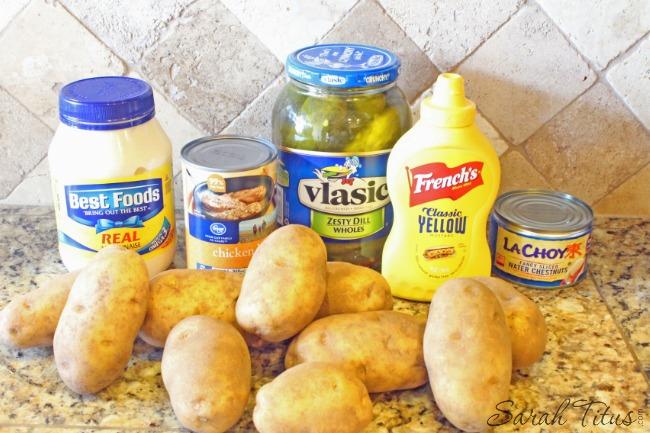 Craveworthy Potato Salad ingredients