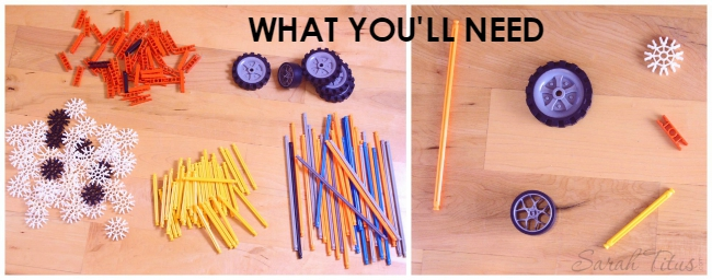 Types of knex supplies you'll need to make a scooter