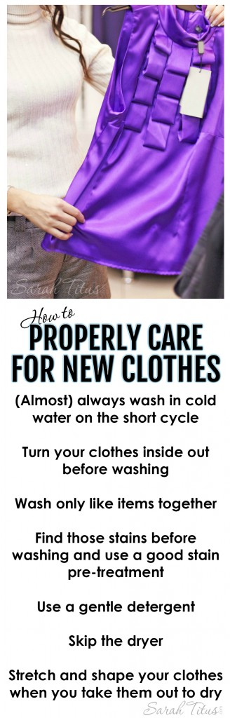 How to Properly Care for New Clothes