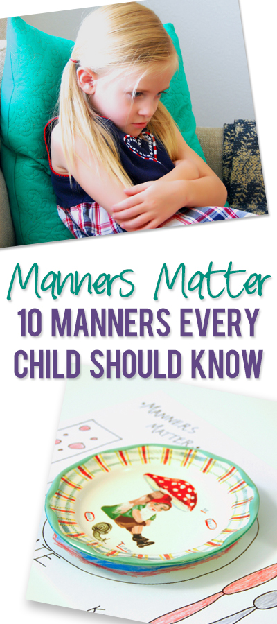 "Teaching children manners is so important! I especially love the ""how to set the table"" picture guide!"
