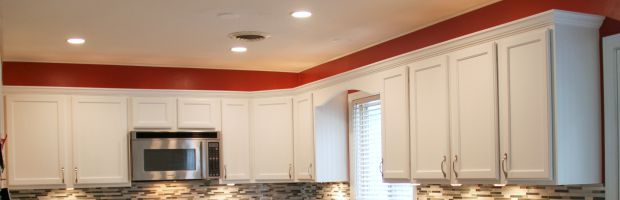 Cabinets after crown moulding