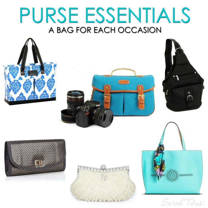 Is your purse constantly cluttered? Never seem to be able to find anything when you're looking for it? Feel like you need everything in it, but don't know a better way to organize it? Maybe the problem is that you need a couple different purses. A tool for the right job! Click here to see the most basic types of purses you'll want to have on hand and where to get cute ones on the cheap!