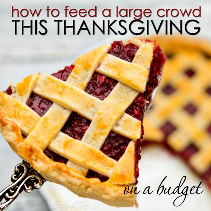 Feeding a large crowd for Thanksgiving doesn't have to set you back an arm and a leg; not if you plan it right. Here's how to feed a large crowd this Thanksgiving on a budget.