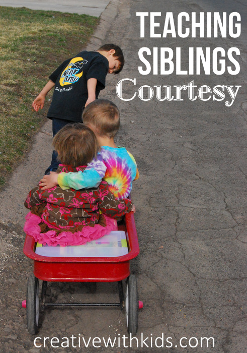 Anyone with 2 or more kids knows siblings can sometimes argue and disresect each other. This is a great tip to teach your children to show courtesy and respect to their siblings.