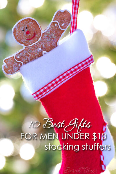 """Is it just me, or are men really hard to buy for? If you said, """"Yes,"""" check out these 10 best gifts for men under $10 {stocking stuffers gift guide} that was made just for YOU!"""