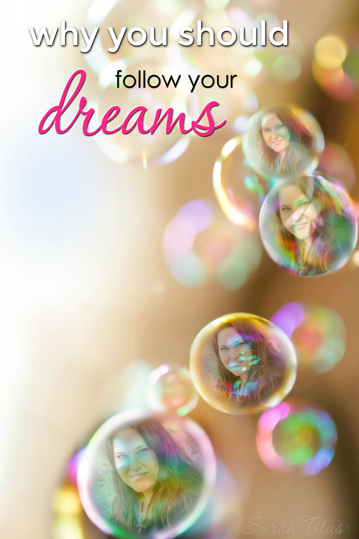 Has there ever been a time in your life when you've looked around and wanted more? From a mom who has been where you are and followed her dreams farther than you can imagine, this post will not only inspire you, but show you why you should follow your dreams!