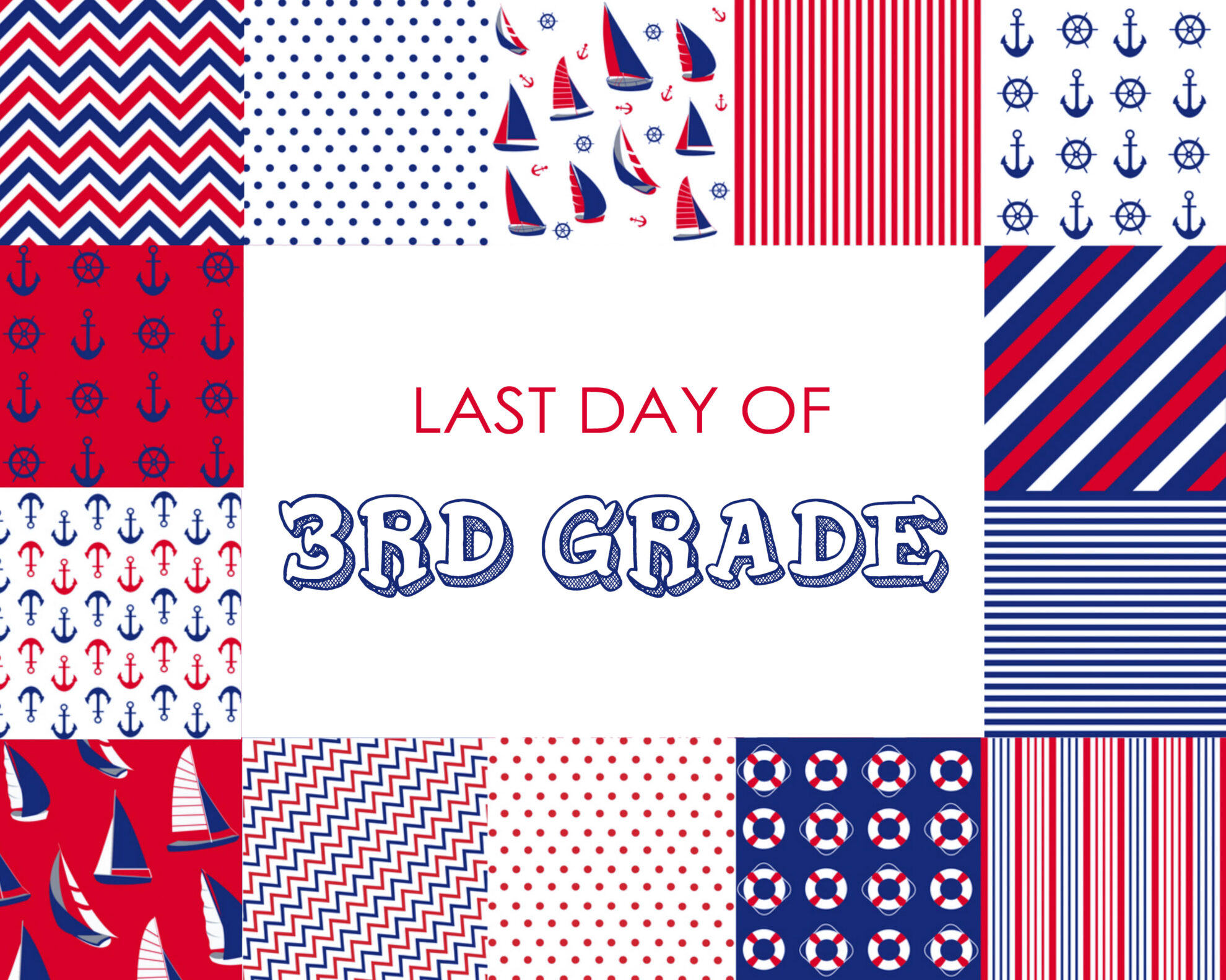 Colorful Boy Last Day of 3rd Grade Free Printable
