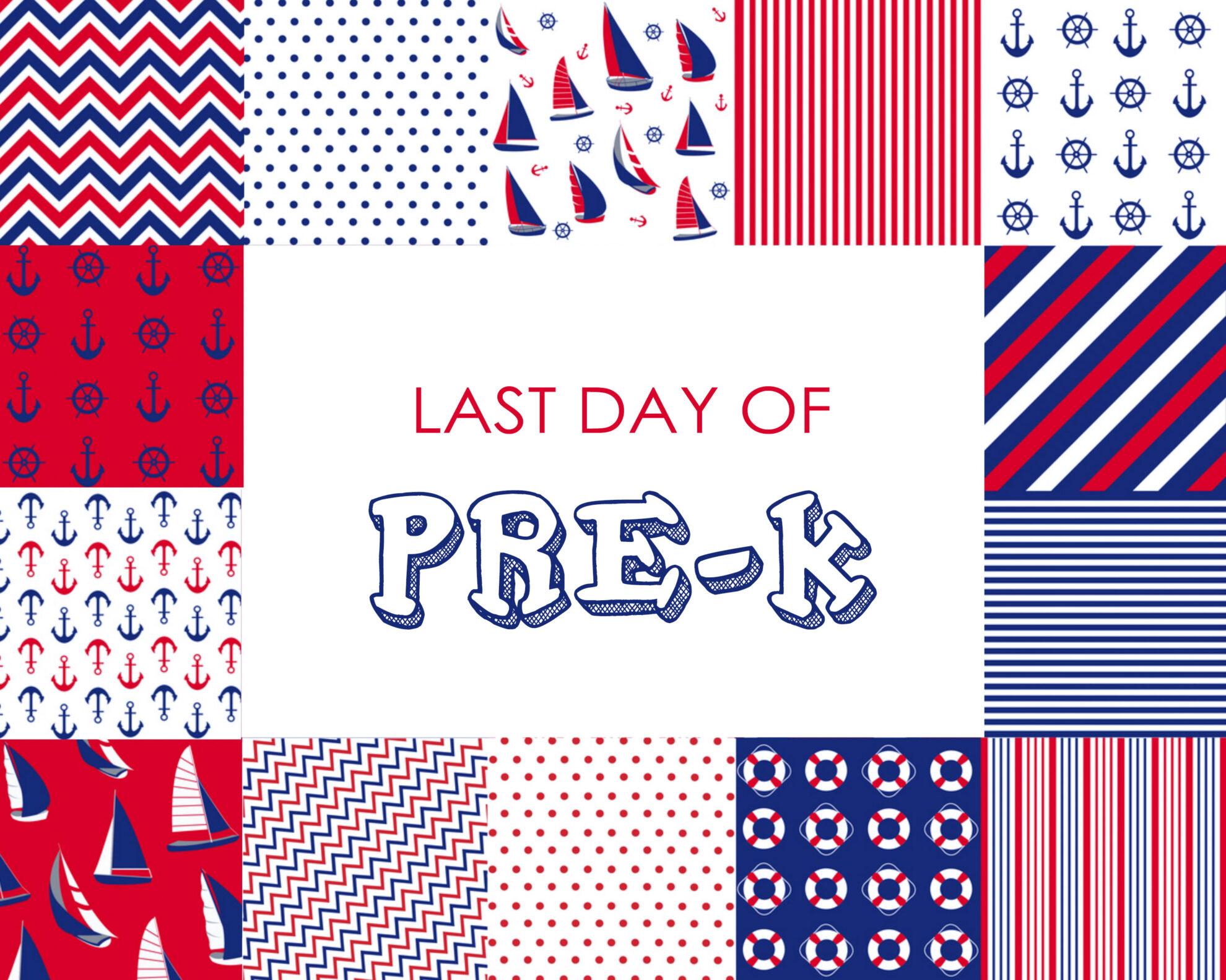 Colorful Boy Last Day of Pre-K Free Printable