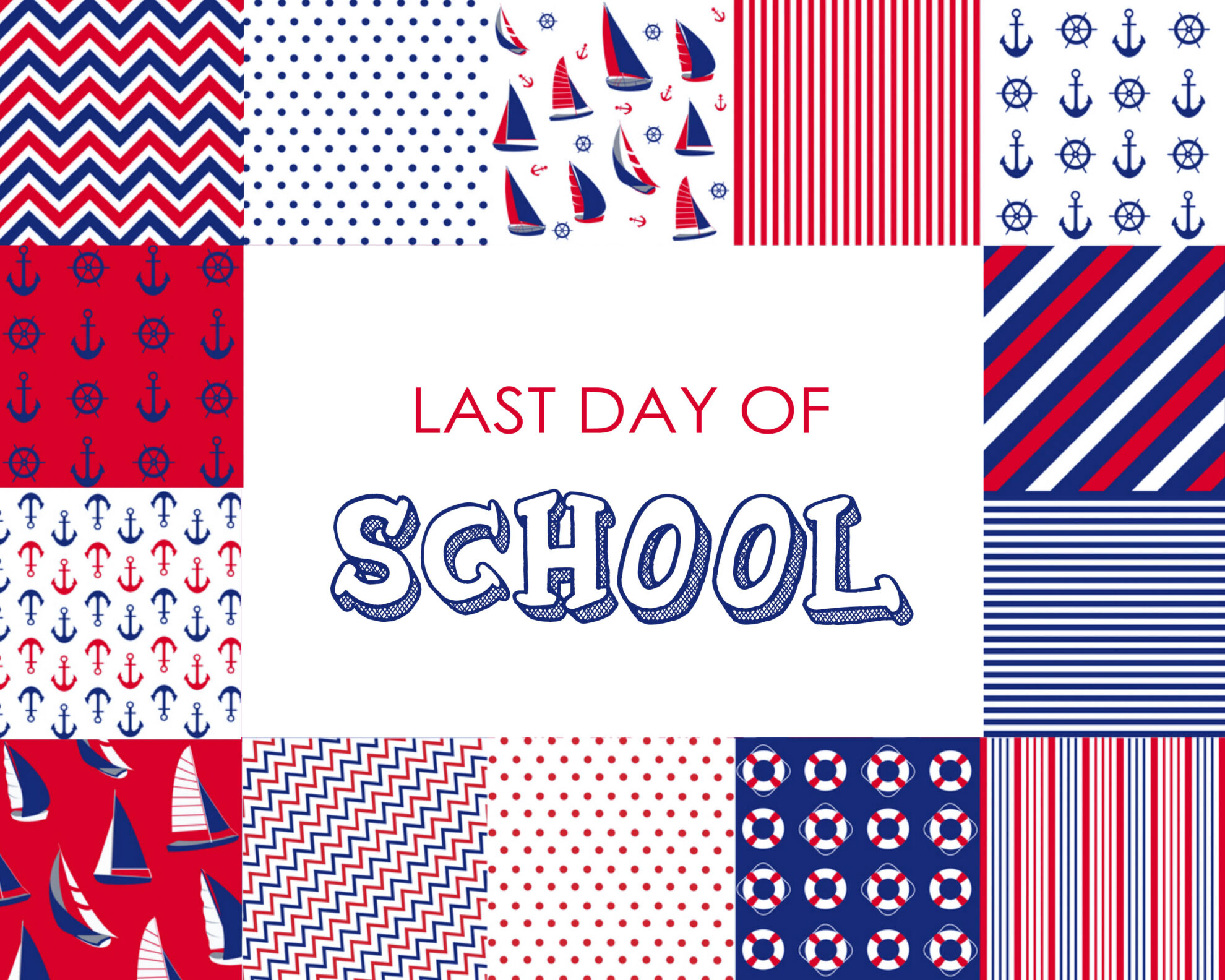 Colorful Boy Last Day of School Free Printable