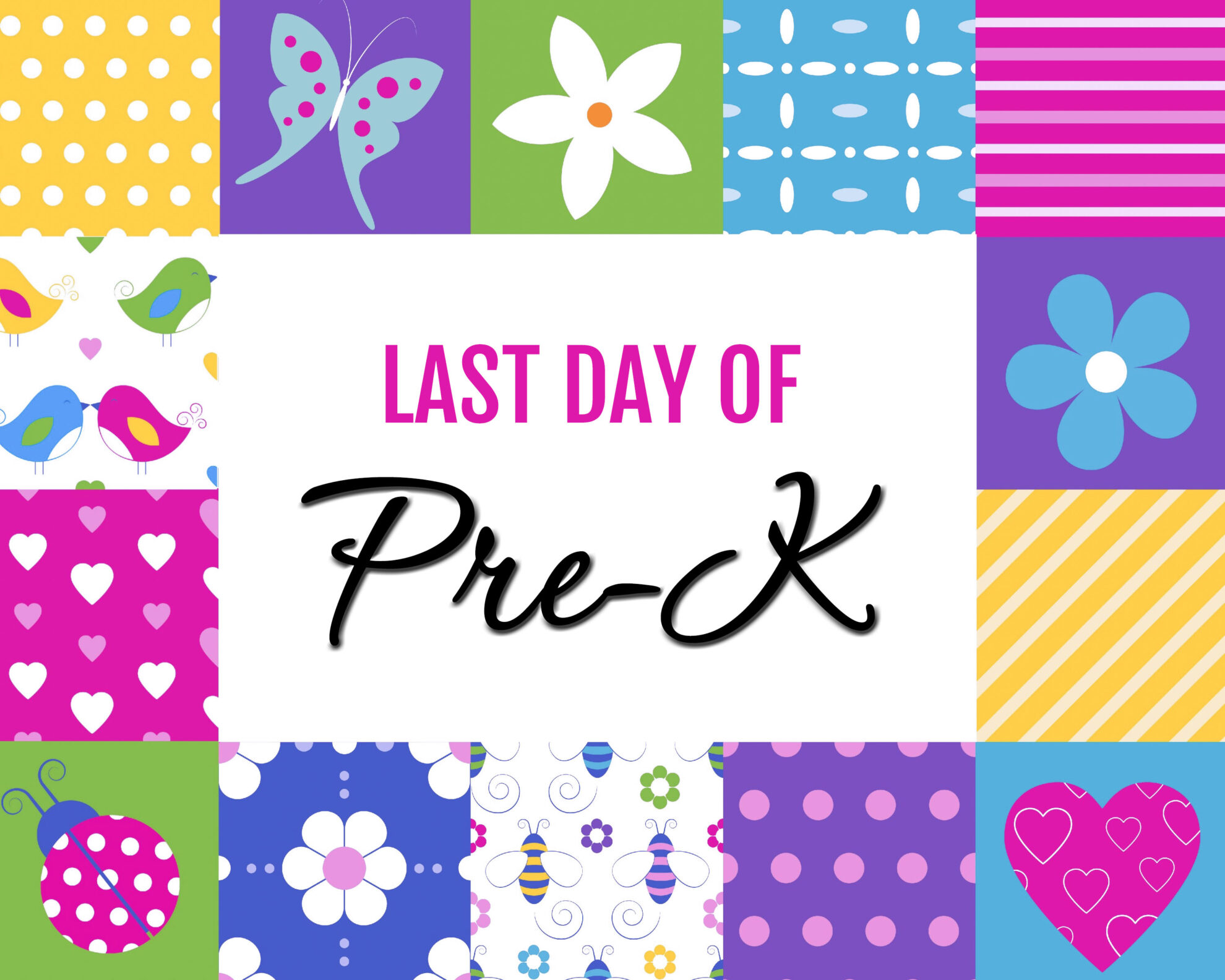 Colorful Girl Last Day of Pre-K Free Printables