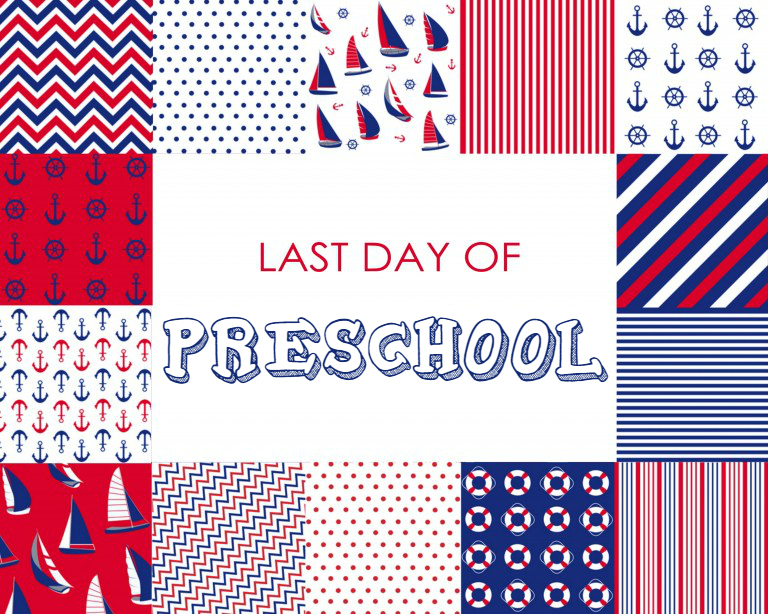 Colorful Boy Last Day of Preschool Free Printable