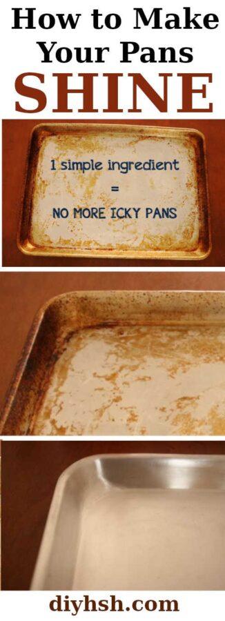 DIY Clean Greasy Pans