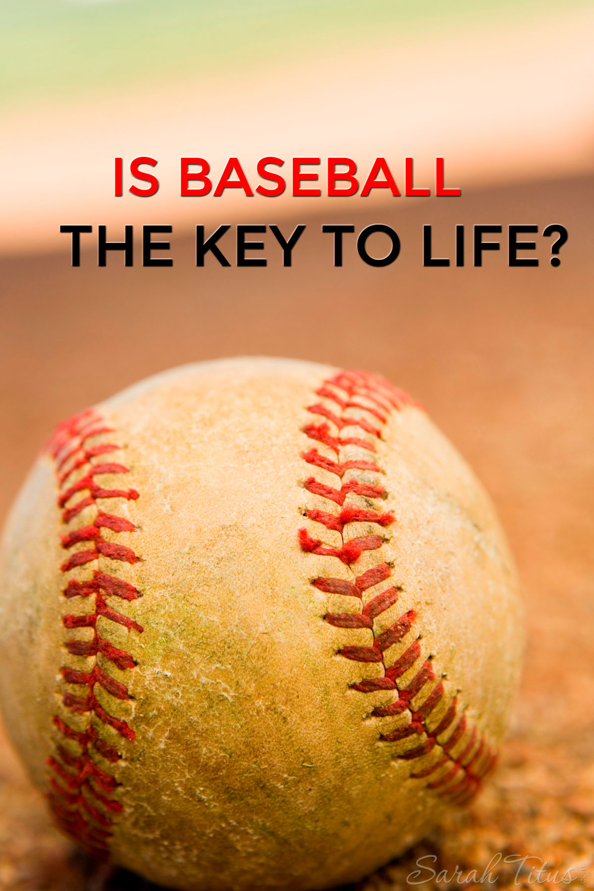You can learn a lot from baseball, but I bet you didn't know about this! Is baseball the key to life? You decide!