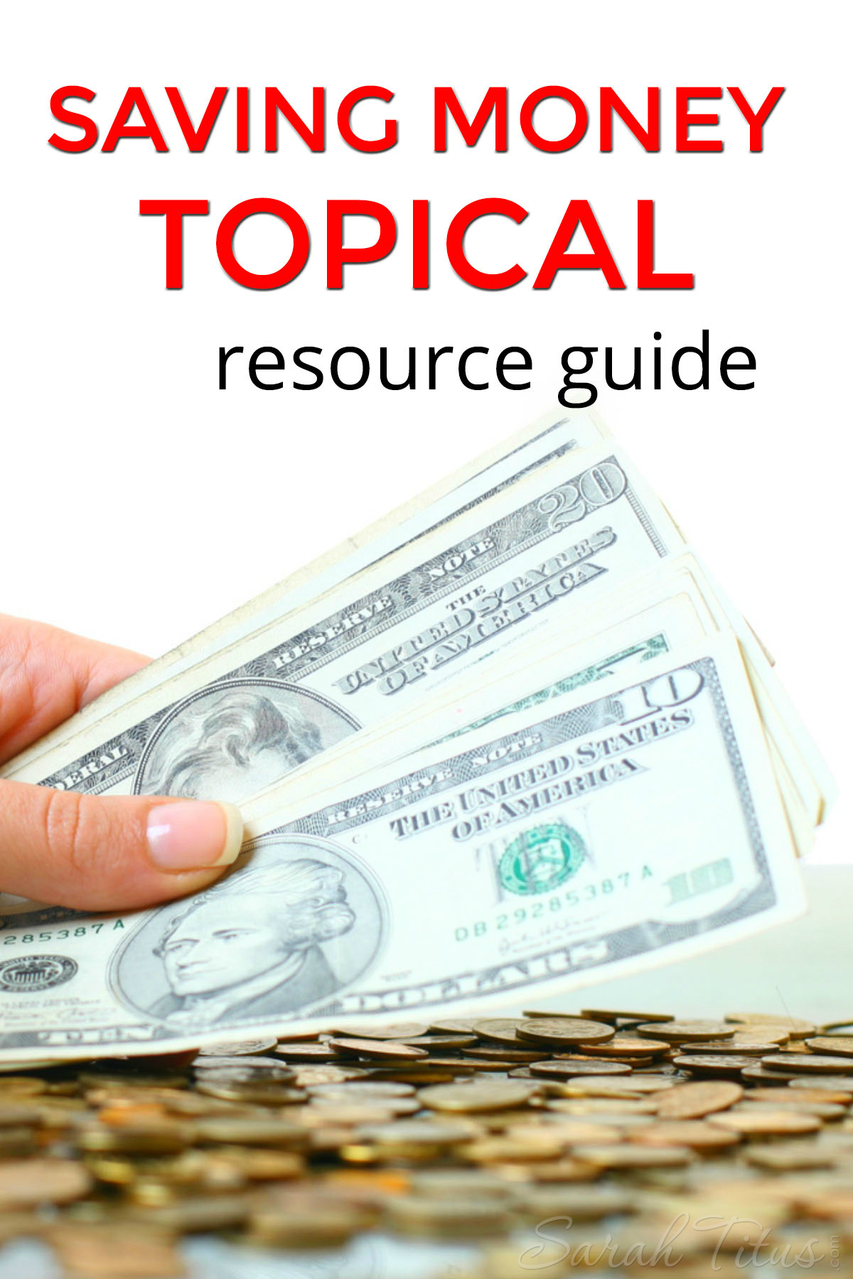 If you're a busy mom and don't have time to scour the internet looking for the best articles on the topic you want to save money on, this Saving Money Topical Resource Guide is perfect for you!