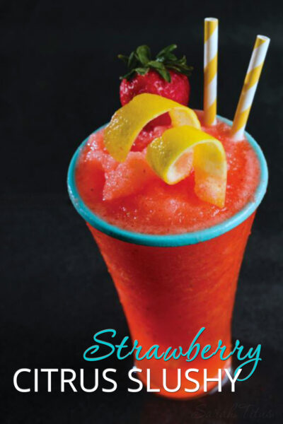 It's super hot outside and you feel like you're melting. Cool off with this delicious Strawberry Citrus Slushy!