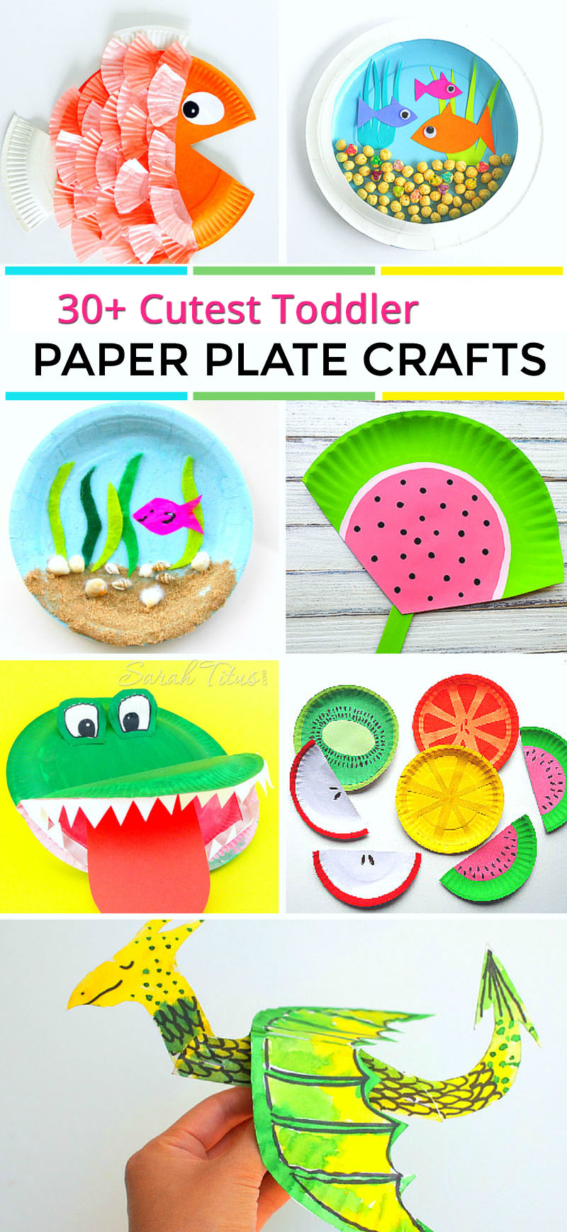 Cutest Toddler Paper Plate Crafts