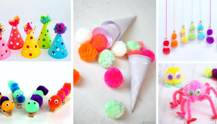 30+ Cutest Toddler Pom-Pom Crafts