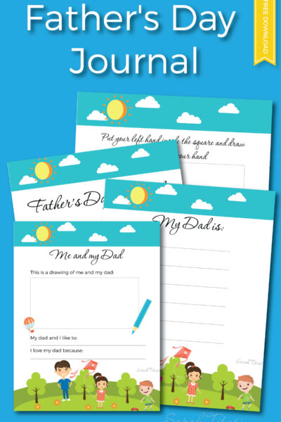 If you're looking for a special gift this Father's Day, you don't have to go out and spend a ton of money...all you need is a gift from the heart. This Father's Day Journal free printables set is perfect!