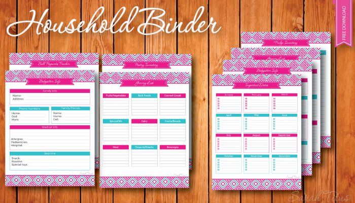 I'm so excited for this household binder. I've been wanting to make one for a very long time, but haven't been able to find a good design I like, until now!