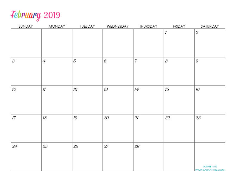 Free Printable 2019 Calendars - Completely editable online!!! Use them for menu planning, homeschooling, blogging, or just to organize your life.
