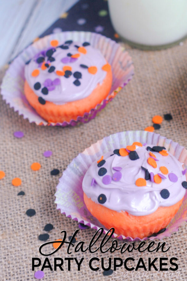 These Halloween party cupcakes are a perfect treat for your party, get-together, or school function!