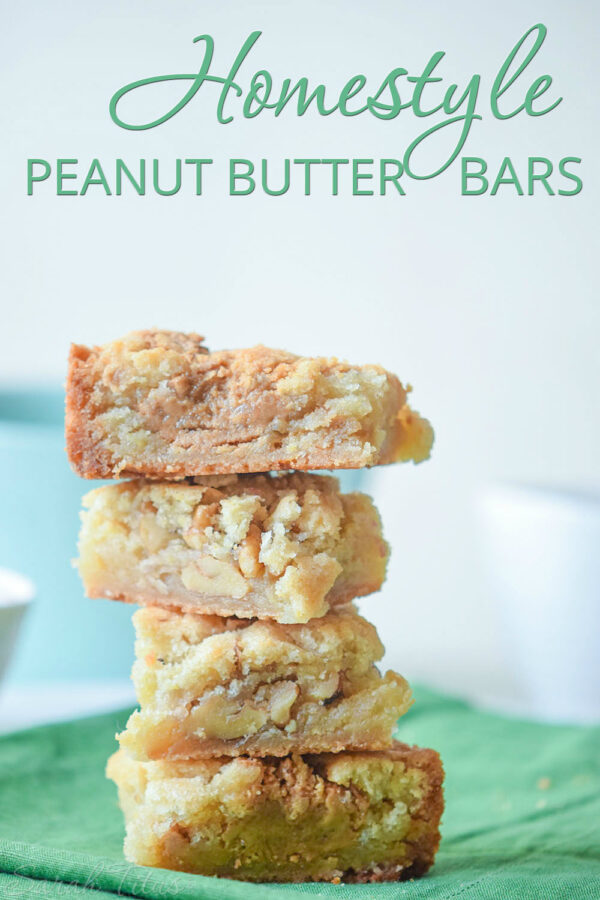 Perfect for the peanut butter lover- these homestyle peanut butter bars do not disappoint! These are sure to be a new family favorite!