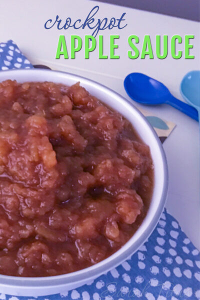 If you have never made crockpot applesauce before, you need to try this! It is so easy and delicious!