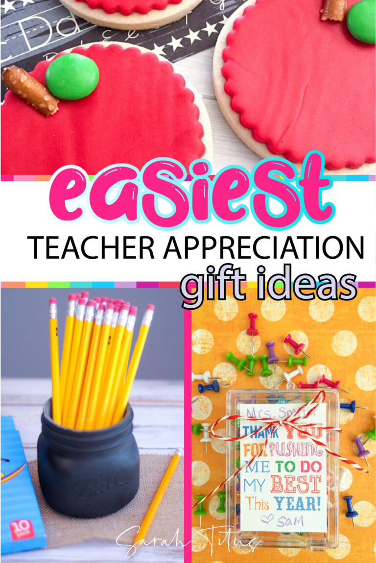 If you're looking for a cheap, homemade back to school or end of year teacher appreciation gift to say thank you, these unique DIY first day (or last) ideas are PERFECT!!! #preschool #kindergarten #grade