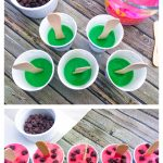 These adorable watermelon pudding pops may LOOK LIKE a watermelon, but they actually taste like chocolate, because...who doesn't like chocolate?!?!