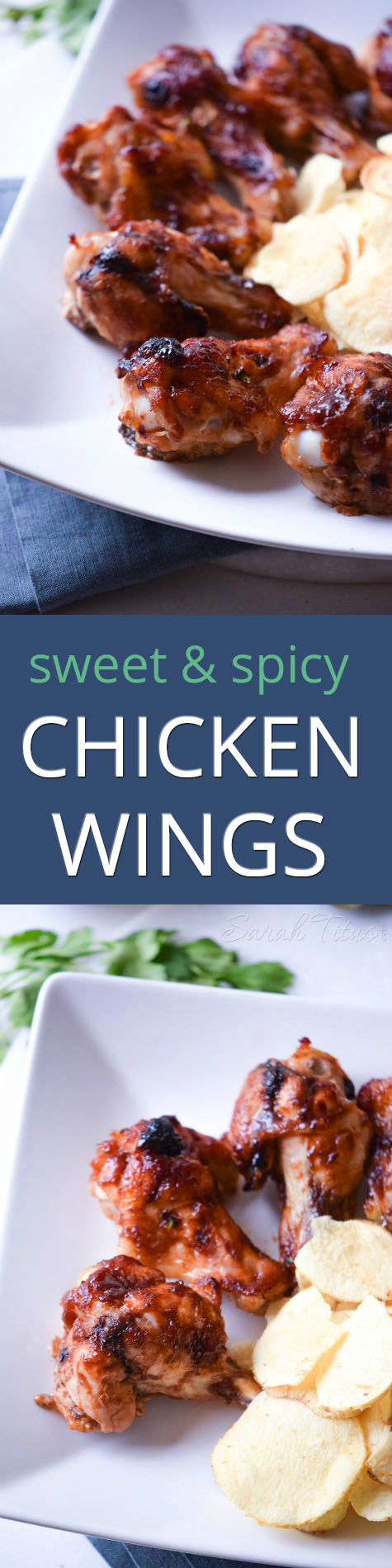 These sweet and spicy chicken wings work perfect for lunch with your friends, a picnic, that next football event, or your family dinner and are super easy to make!