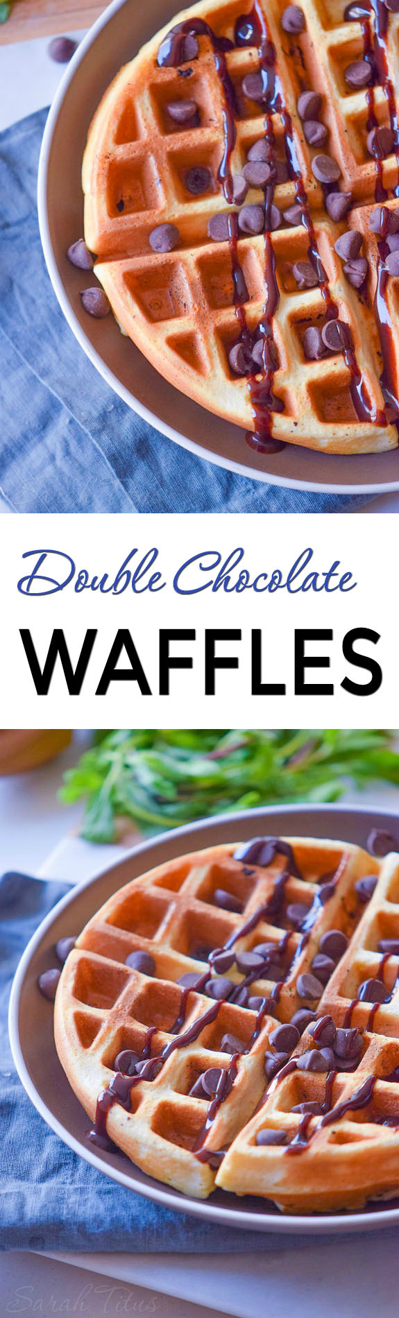 Whether you want a decadent breakfast or a yummy dessert, these double chocolate waffles are sure to satisfy that sweet tooth!