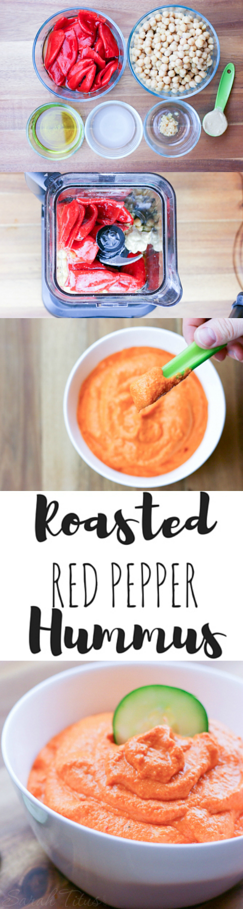 Hummus is a great snack and the flavors you can add are almost endless, but I particularly like the flavor of Roasted Red Pepper Hummus. Get the recipe here!
