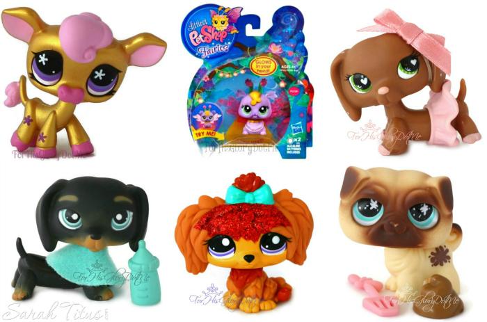 Various cute Littlest Pet Shop Figures