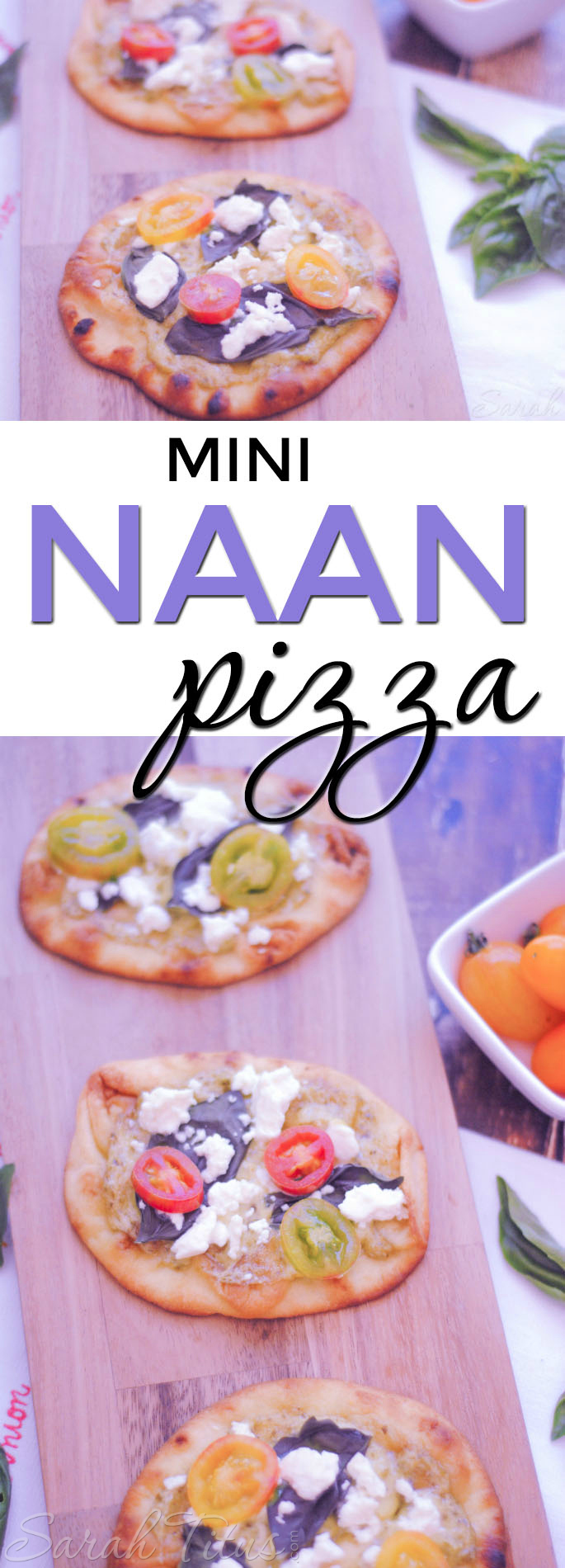 """Are you tired of the same old pizza with red sauce? Step out of your """"pizza rut"""" with this Mini Naan Pizza! So good, I bet you can't eat just one!"""