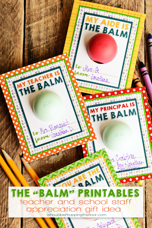 This teacher appreciation gift is so cute and so simple to create. The post has the free printable to print, so just grab a lip balm, print, and you're good to go!