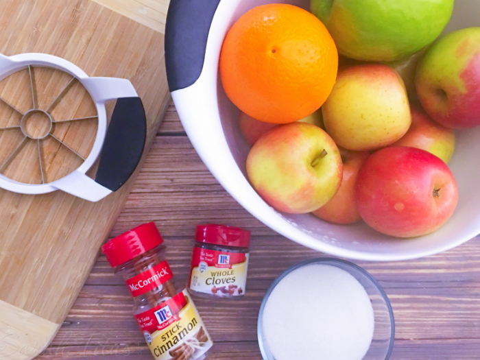 This crockpot apple cider recipe is so delicious and super easy to make. Just throw everything in your crockpot and let it do the work FOR YOU!