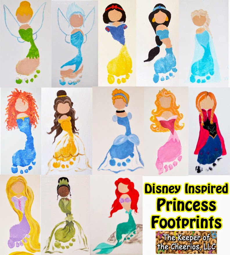 Oh my goodness how cute are these?! Every little girl will love making these princess footprints.