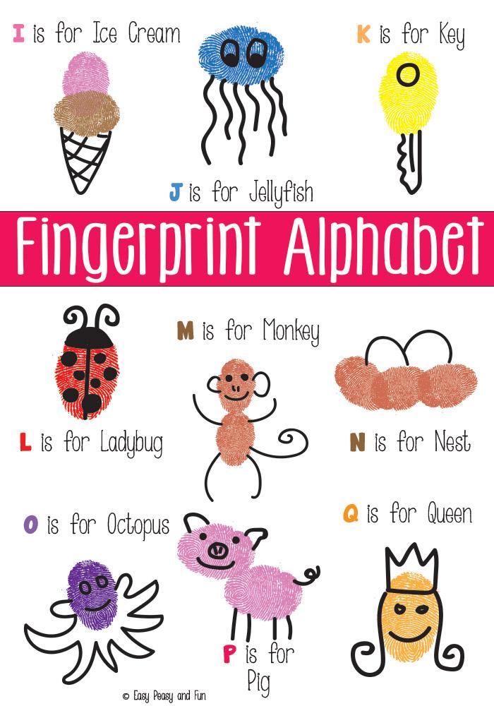 Teach your preschooler their letters with these adorable Alphabet fingerprints!