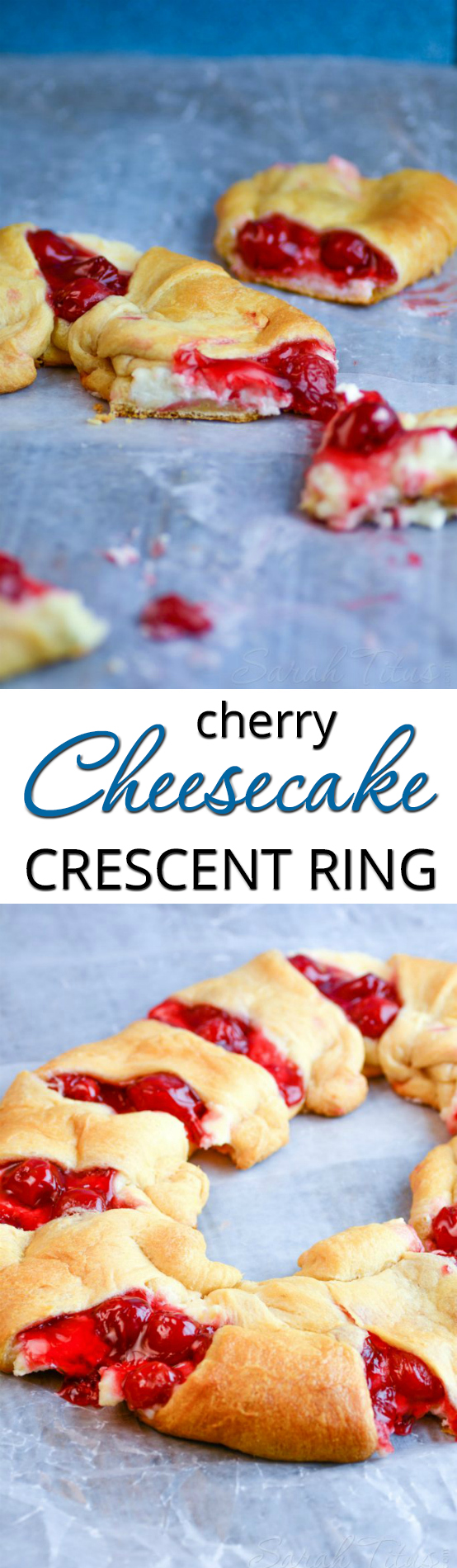 Believe it or not, this Cherry Cheesecake Crescent Ring only uses 5 ingredients and is an absolute show-stopper packed with flavor!